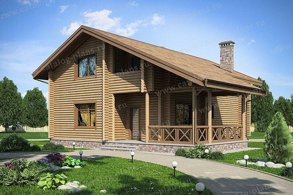Проект жилой дом #49-71B материал - дерево, стиль хай-тек