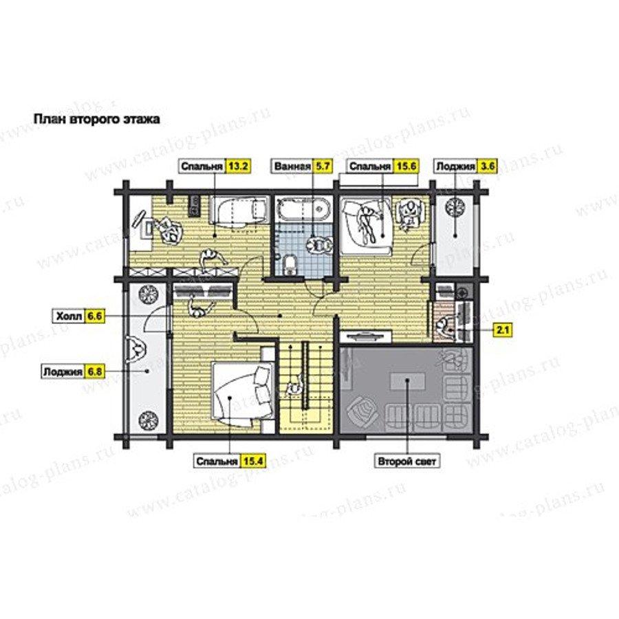 План 2-этажа проекта 49-71AB