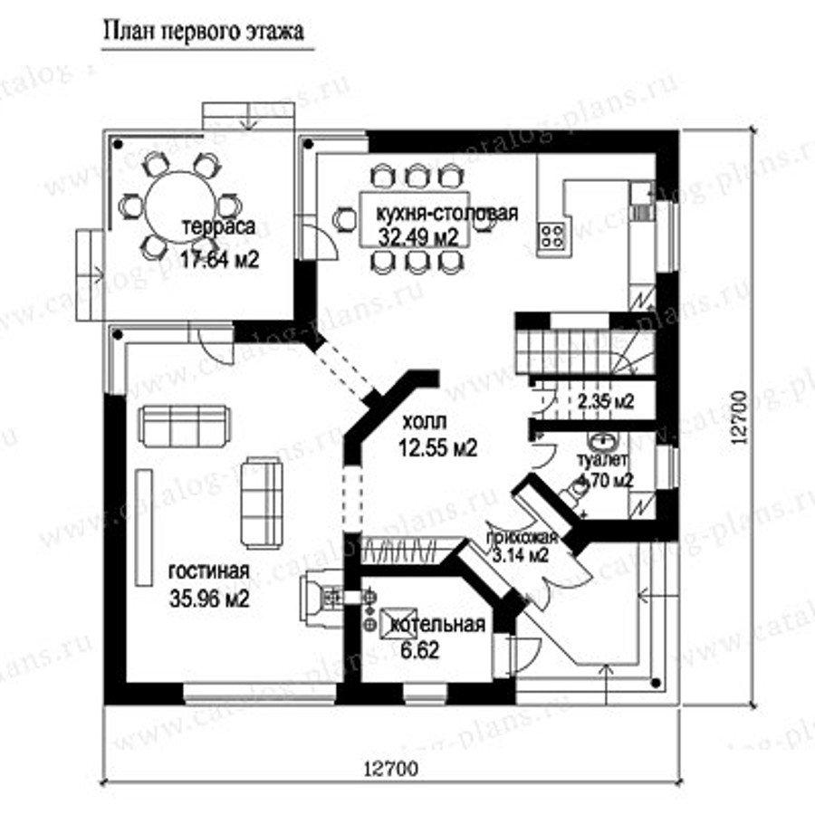 План 1-этажа проекта 49-53A