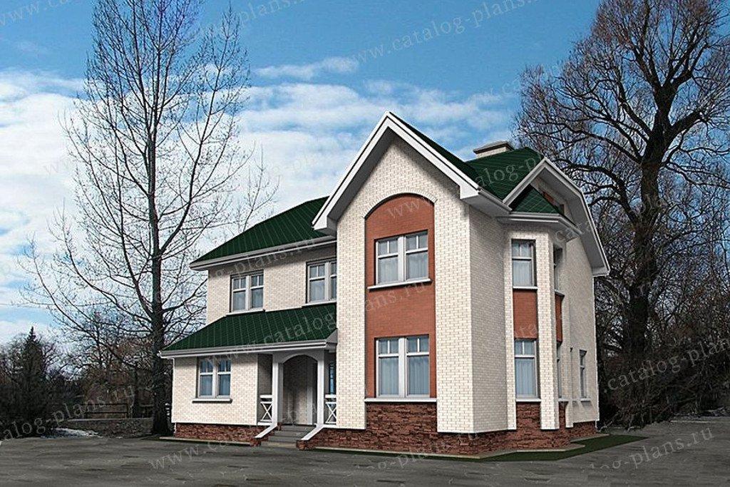 Проект жилой дом #49-80AG материал - газобетон, стиль английский