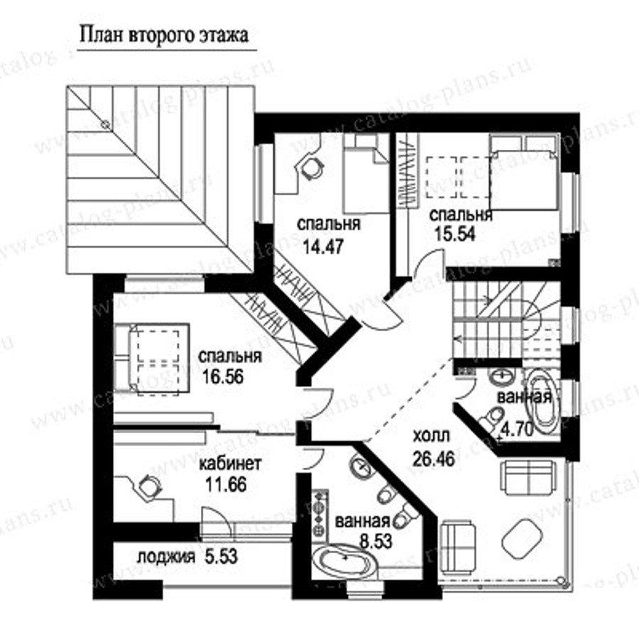 План 2-этажа проекта 49-53A