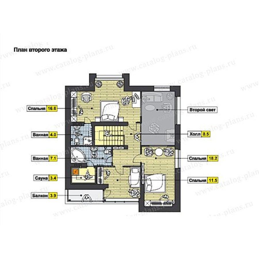 План 2-этажа проекта 49-70AG