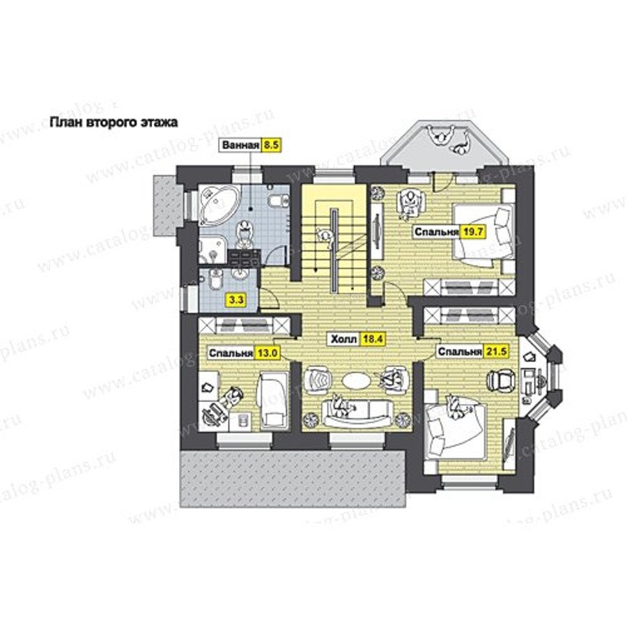 План 2-этажа проекта 49-80AG