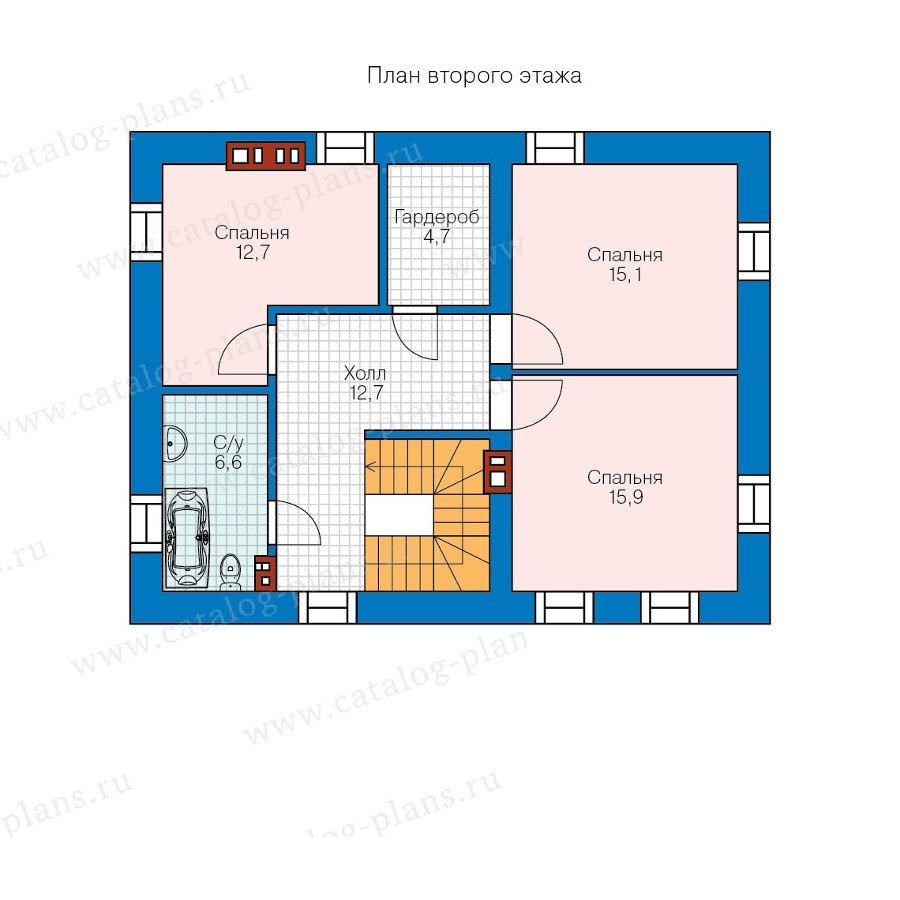 План 2-этажа проекта 57-93