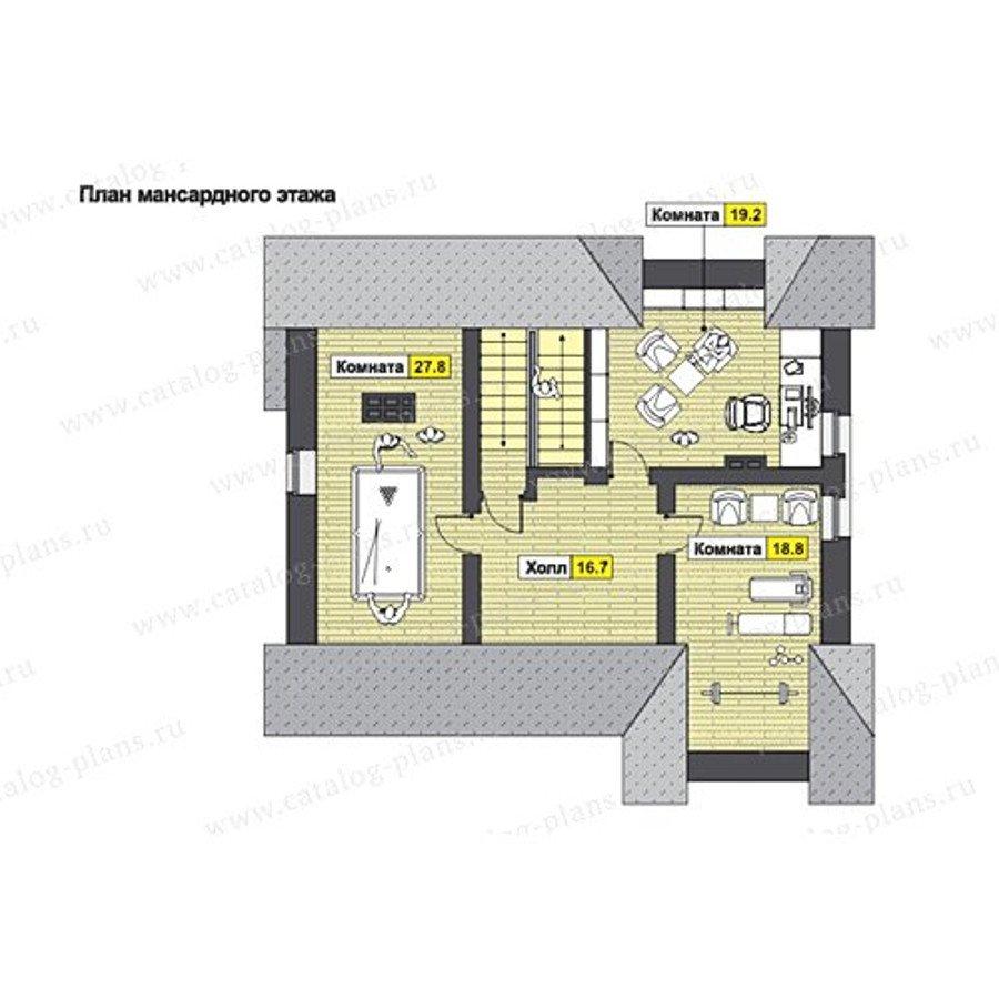План 3-этажа проекта 49-80AG