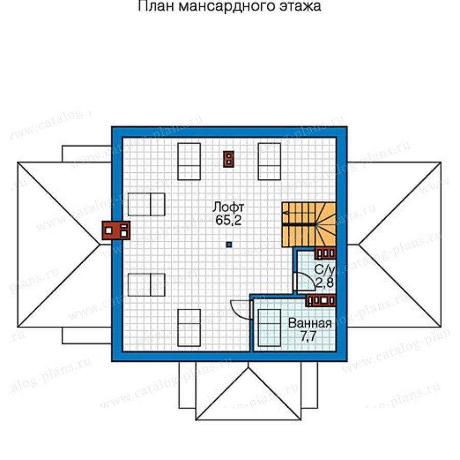 План 2-этажа проекта 57-65K