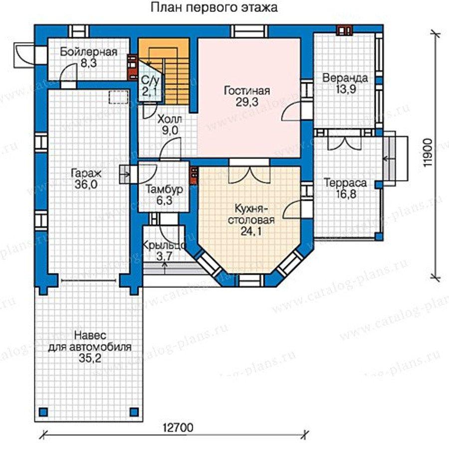 План 2-этажа проекта 58-43