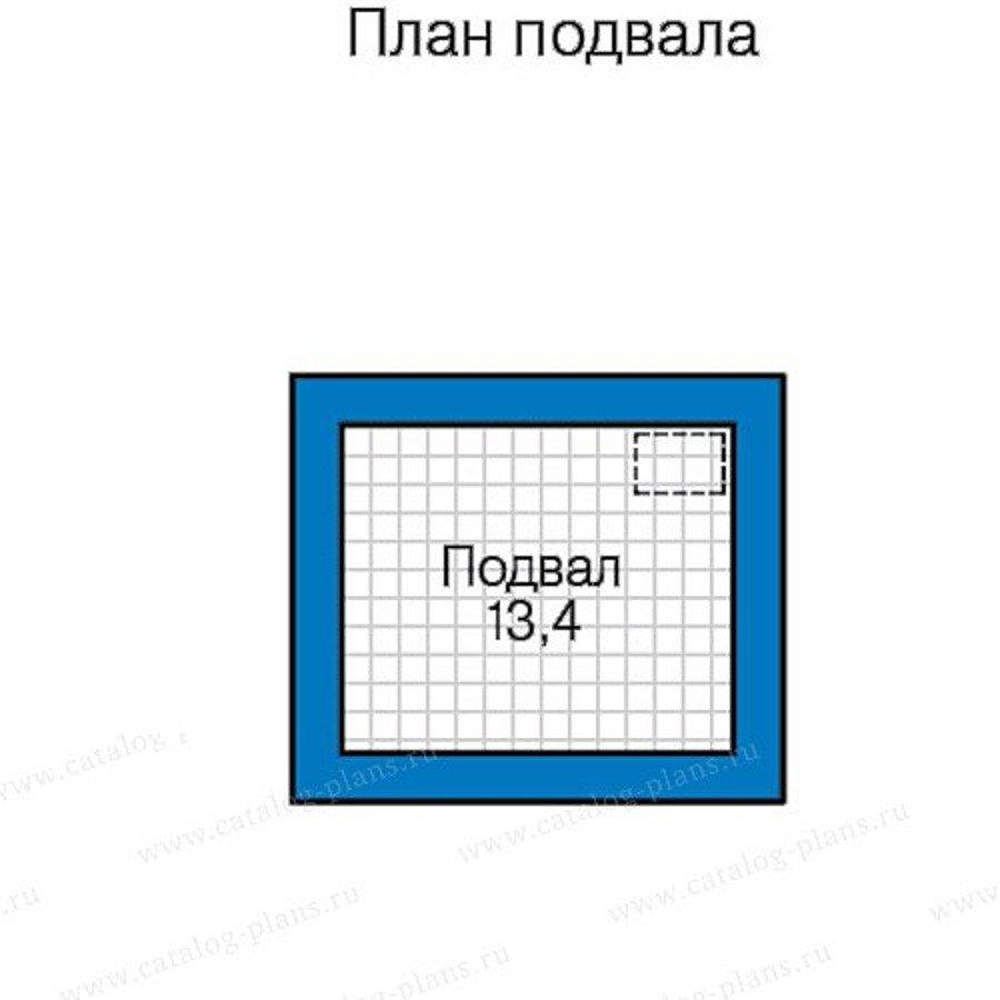 План 1-этажа проекта 58-43