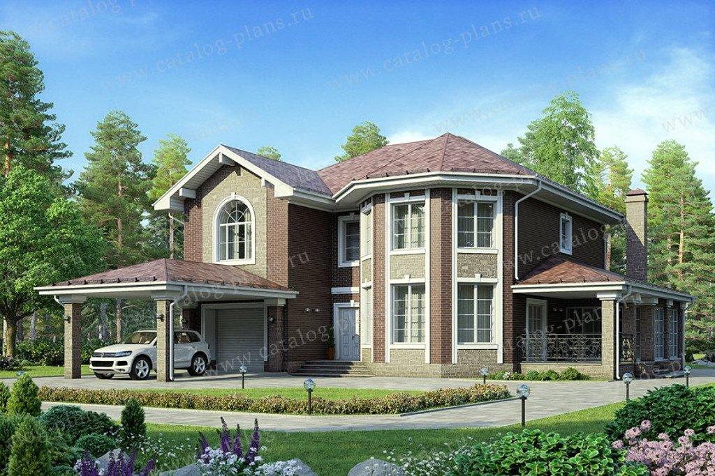 Проект жилой дом #58-43 материал - газобетон, стиль классический