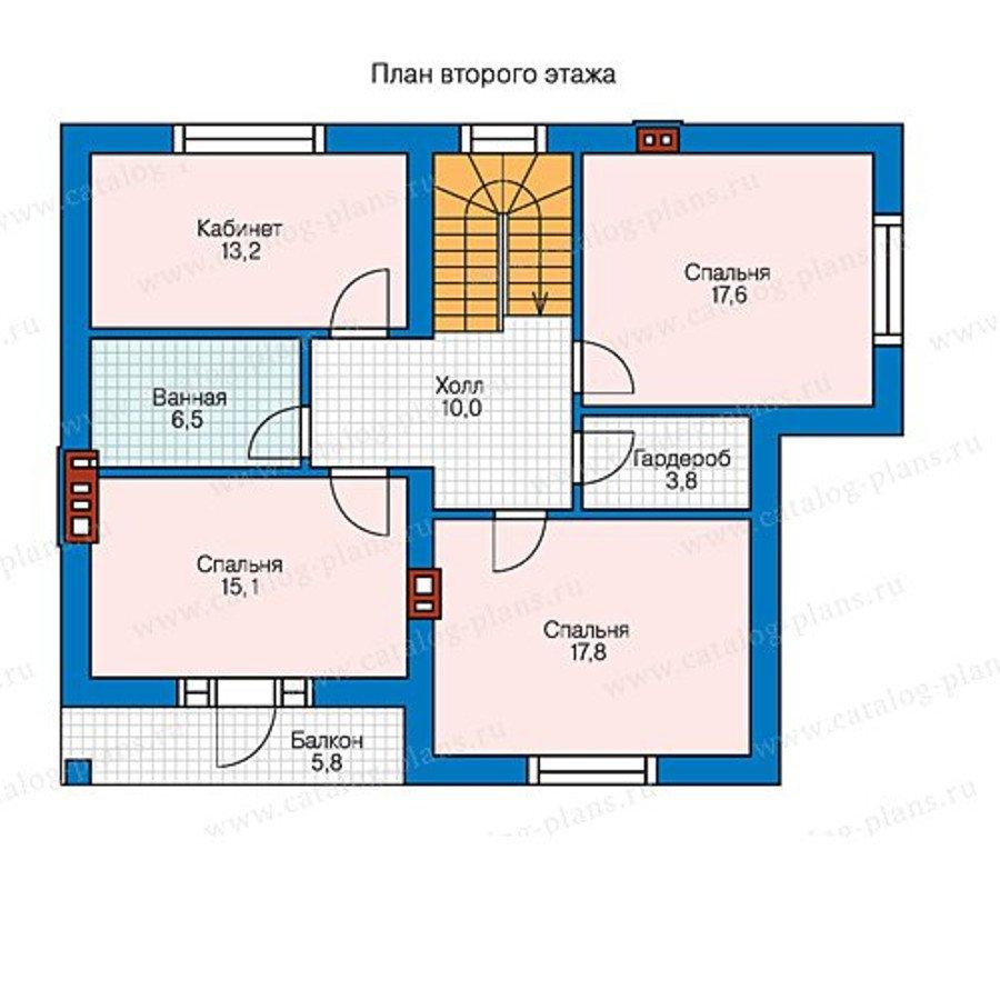 План 2-этажа проекта 58-47