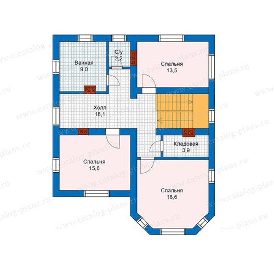 План 2-этажа проекта 59-92K