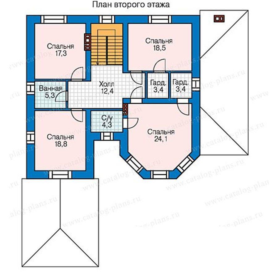 План 3-этажа проекта 58-43