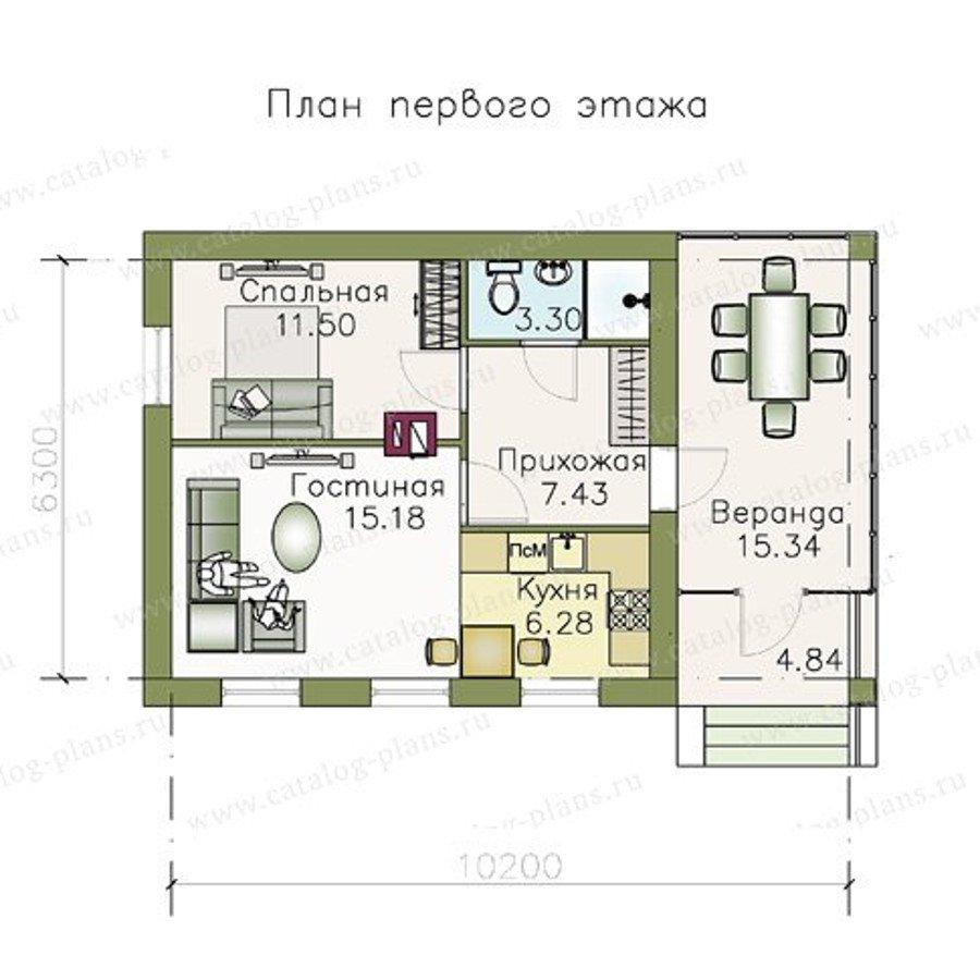 План 1-этажа проекта 48-06