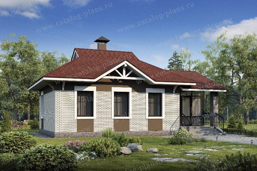 Проект жилой дом #48-06 материал - газобетон, стиль европейский