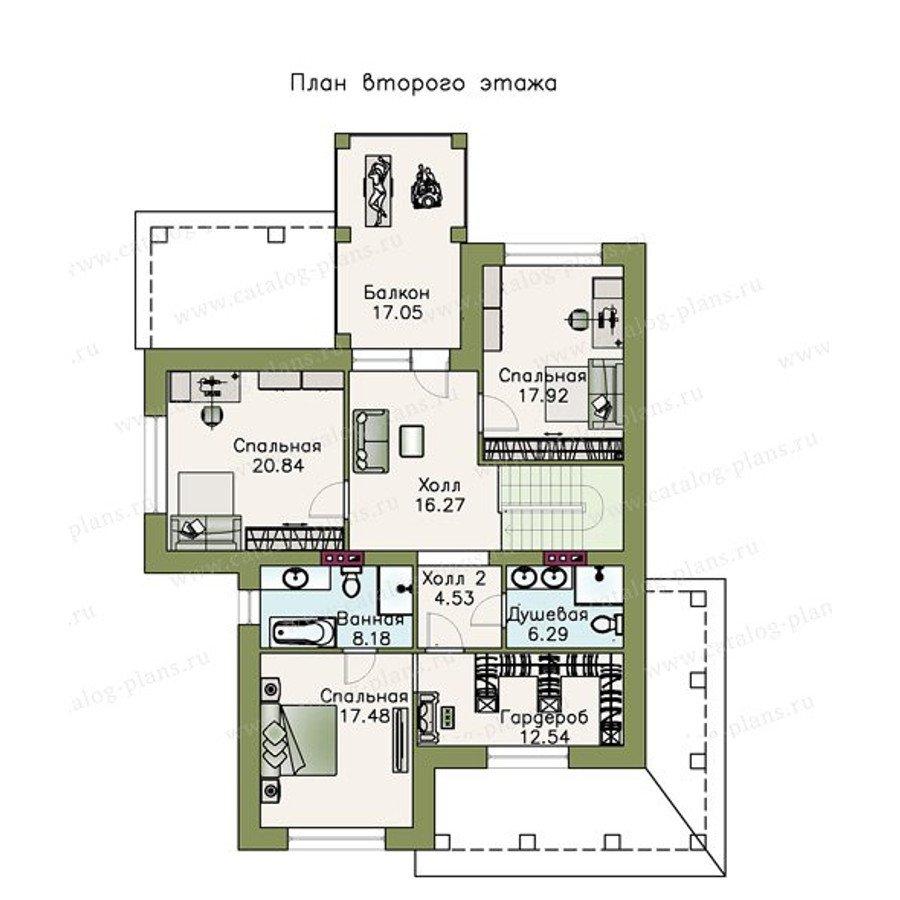 План 2-этажа проекта 48-07
