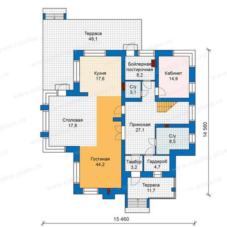 План 1-этажа проекта 48-24K1
