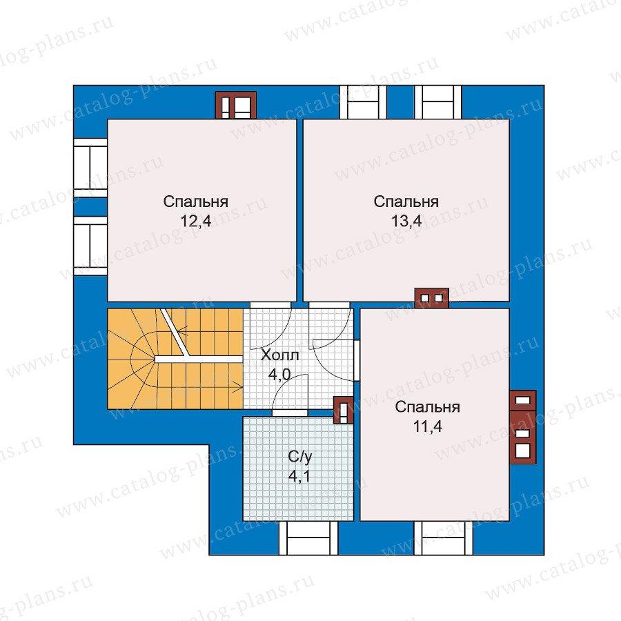 План 2-этажа проекта 48-20
