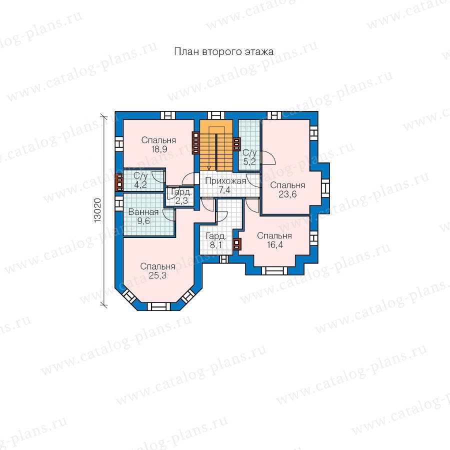 План 2-этажа проекта 48-29A
