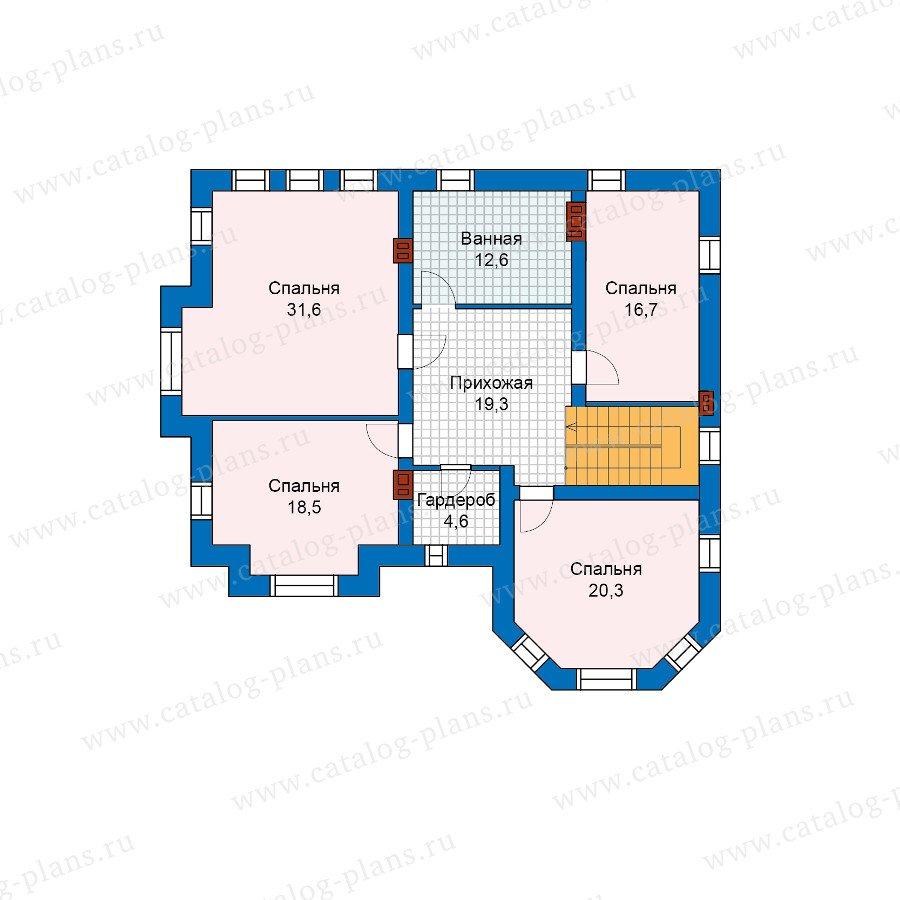 План 2-этажа проекта 48-26