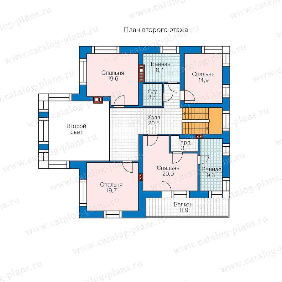 План 2-этажа проекта 48-24AG