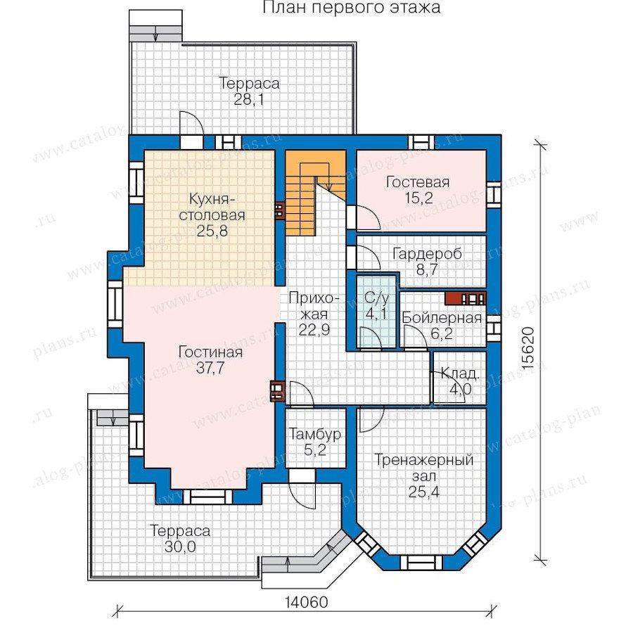 План 1-этажа проекта 48-31