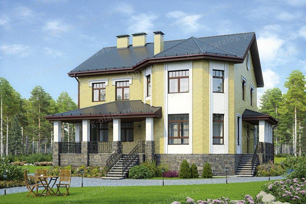 Проект жилой дом #48-51G материал - газобетон, стиль европейский