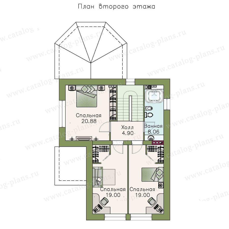 План 3-этажа проекта 48-13