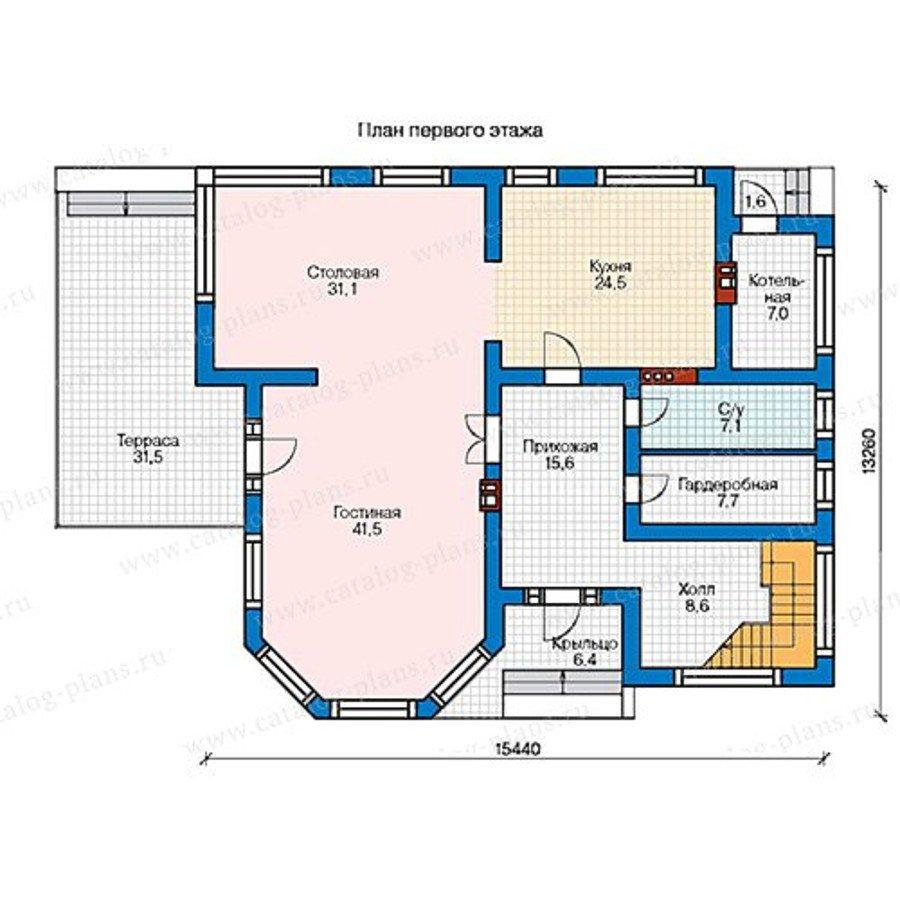План 1-этажа проекта 48-21AG