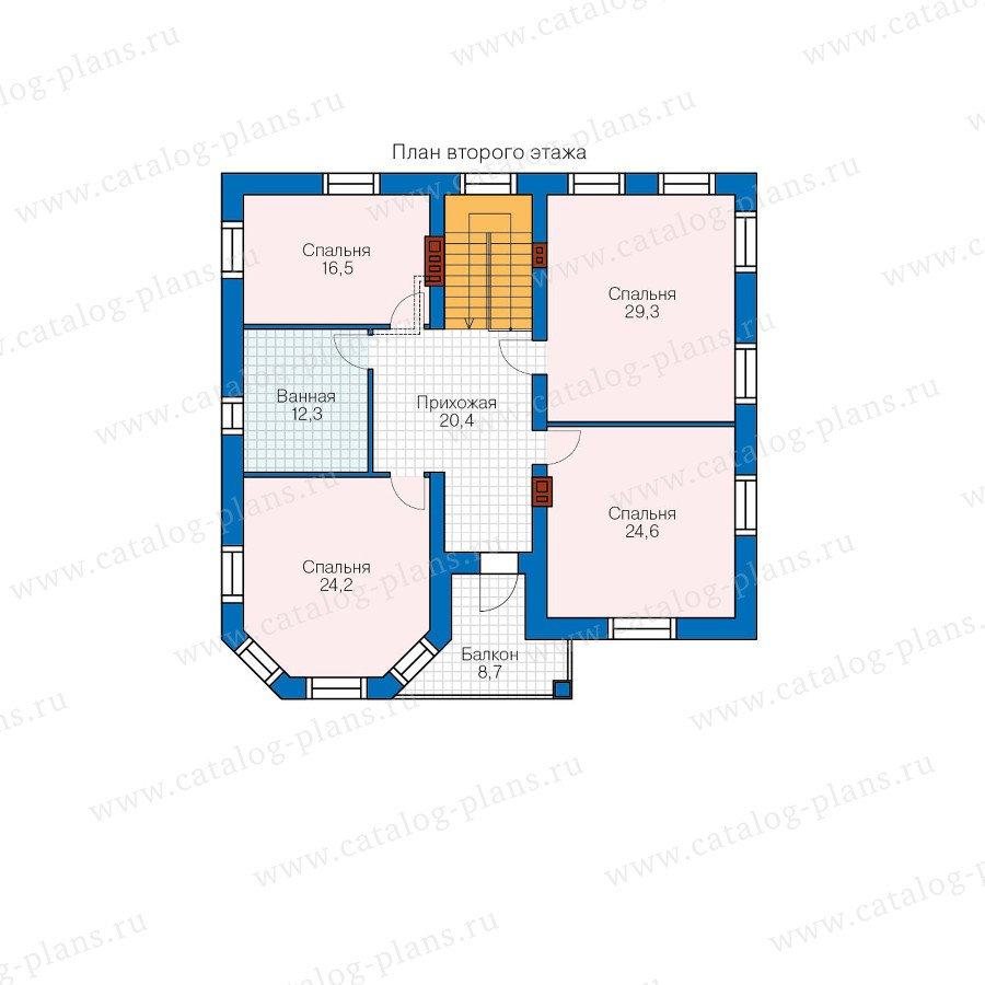 План 2-этажа проекта 48-32