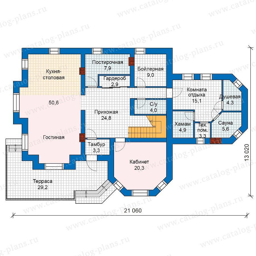 План 1-этажа проекта 48-26