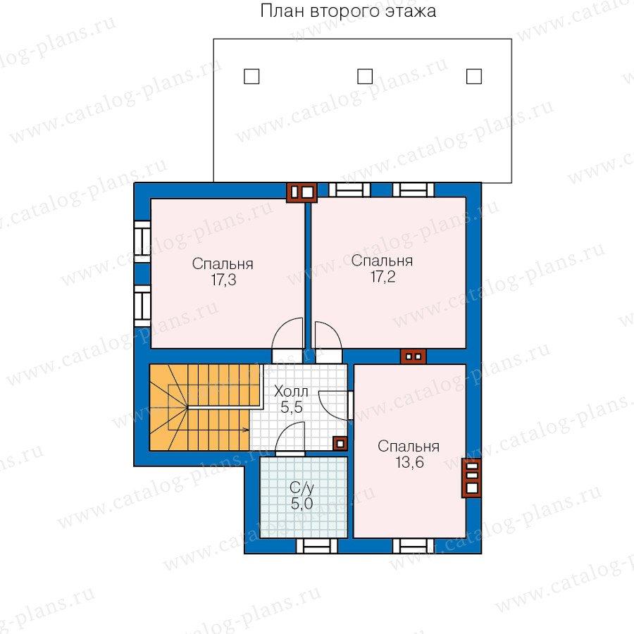 План 2-этажа проекта 48-20A