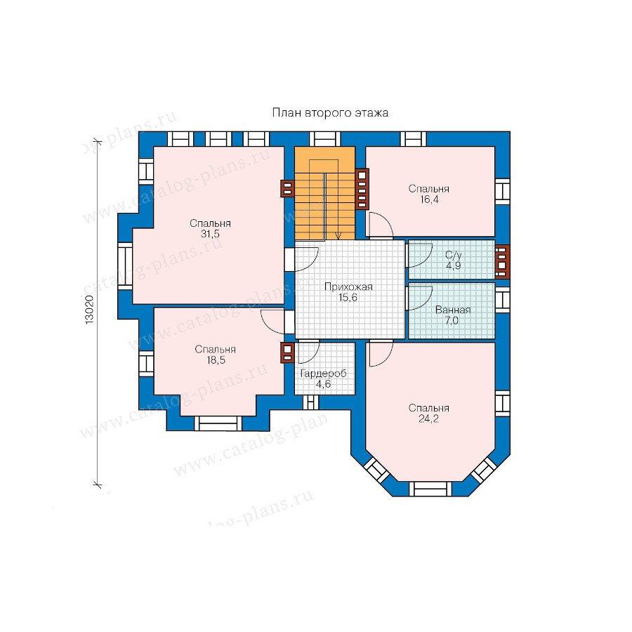 План 2-этажа проекта 48-29B