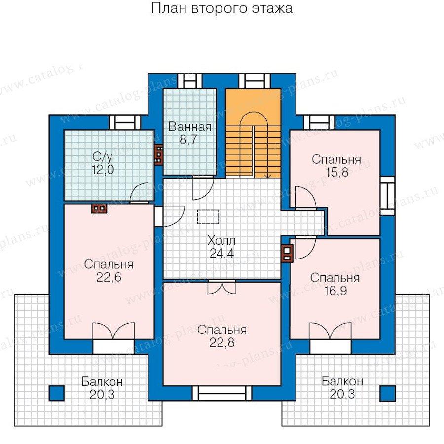 План 3-этажа проекта 48-23A