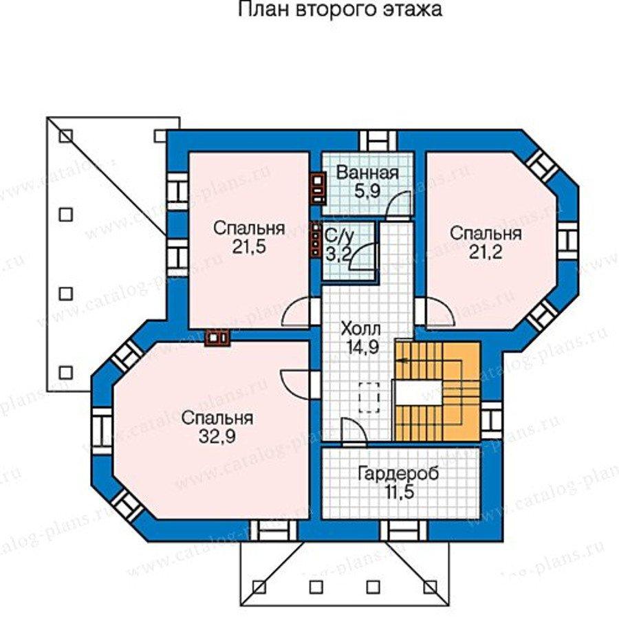План 3-этажа проекта 48-51G