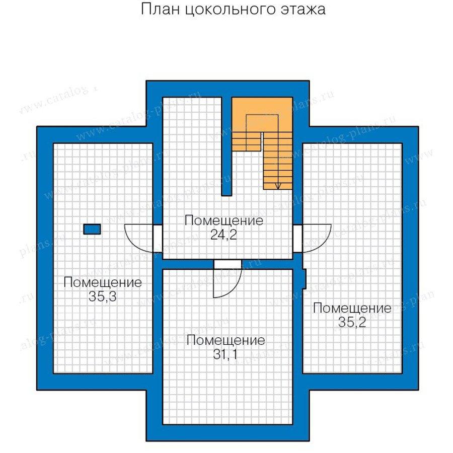 План 1-этажа проекта 48-23A
