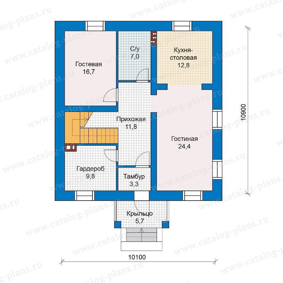 План 2-этажа проекта 48-28