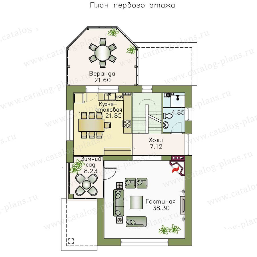 План 2-этажа проекта 48-13