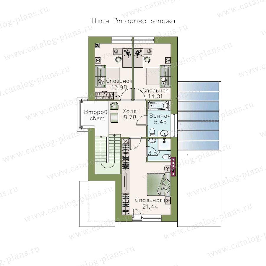 План 2-этажа проекта 48-08