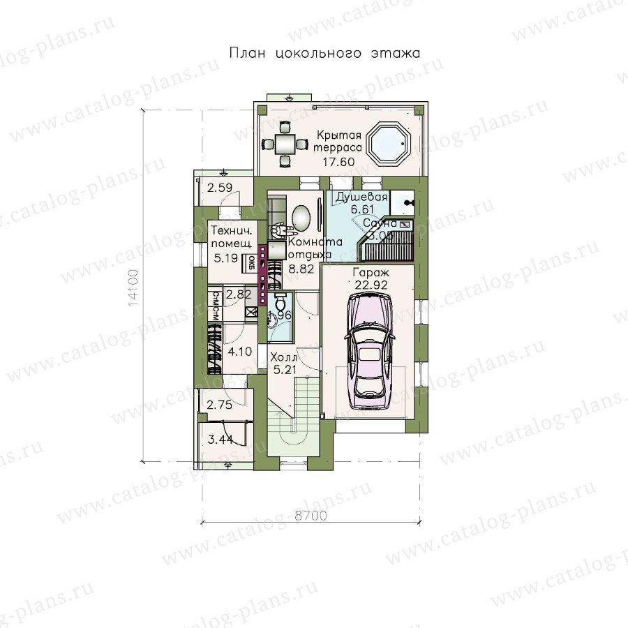 План 1-этажа проекта 48-14