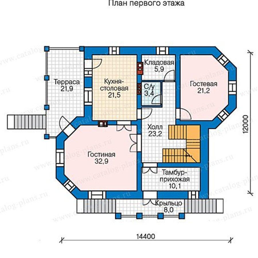 План 2-этажа проекта 48-51G