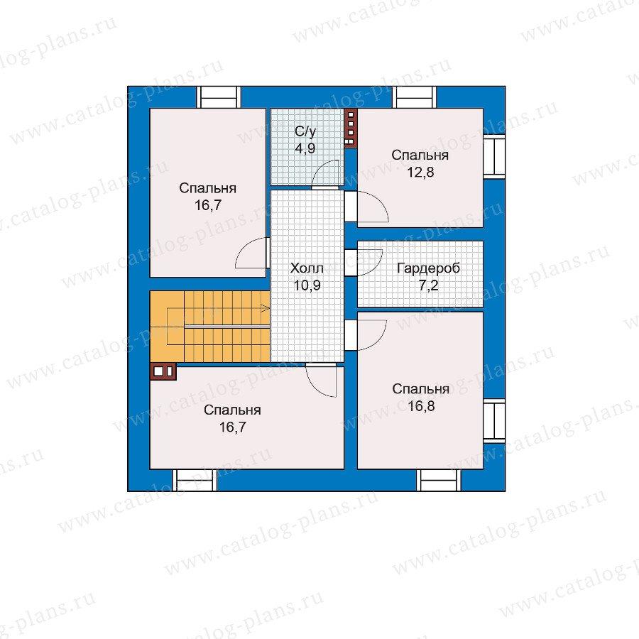 План 3-этажа проекта 48-28