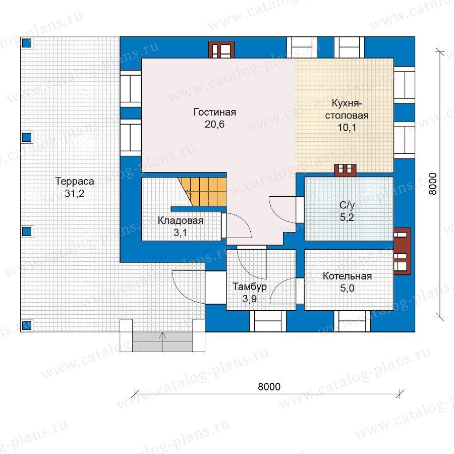 План 1-этажа проекта 48-20