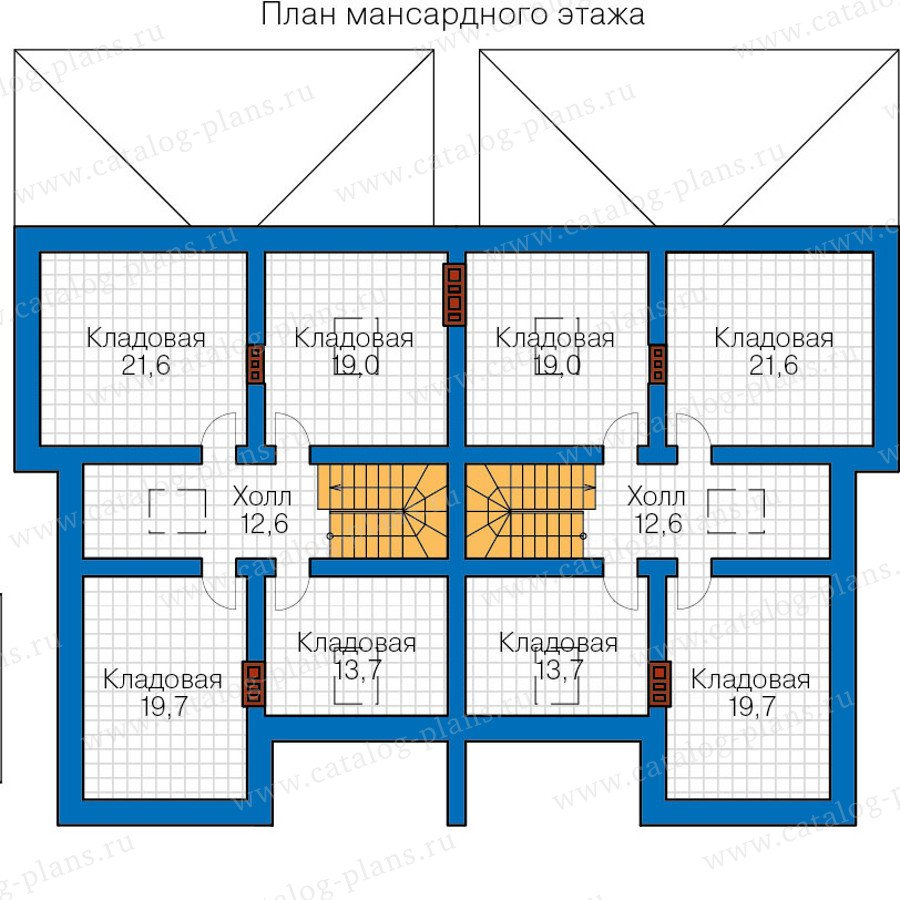 План 3-этажа проекта 48-34