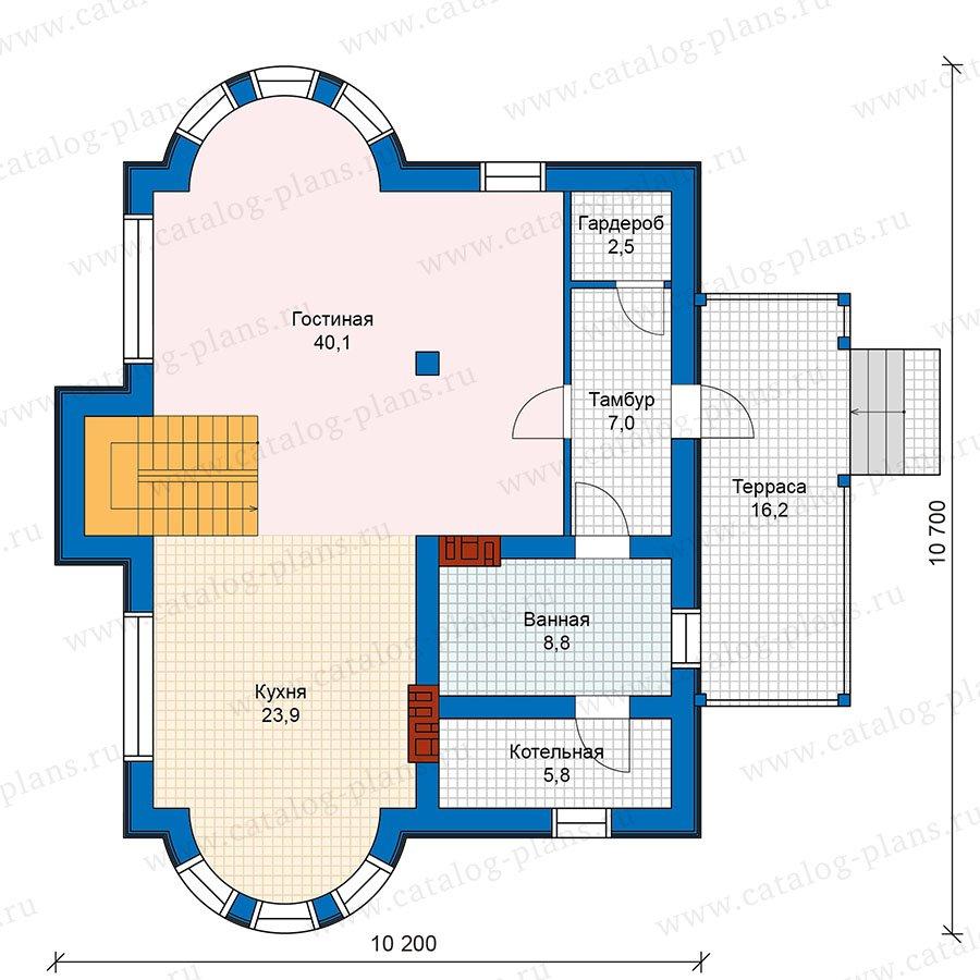 План 1-этажа проекта 48-22