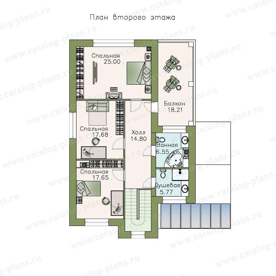 План 2-этажа проекта 48-10