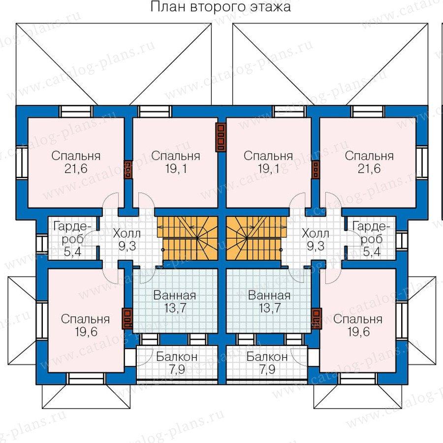 План 2-этажа проекта 48-34