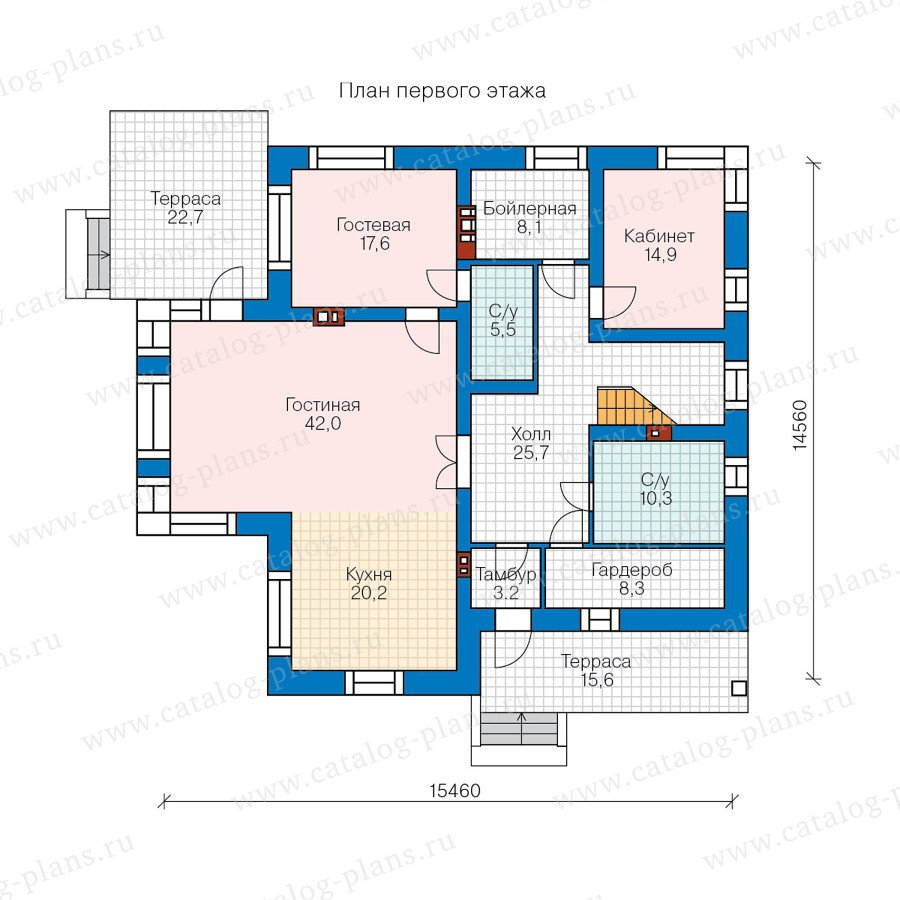 План 1-этажа проекта 48-24AG