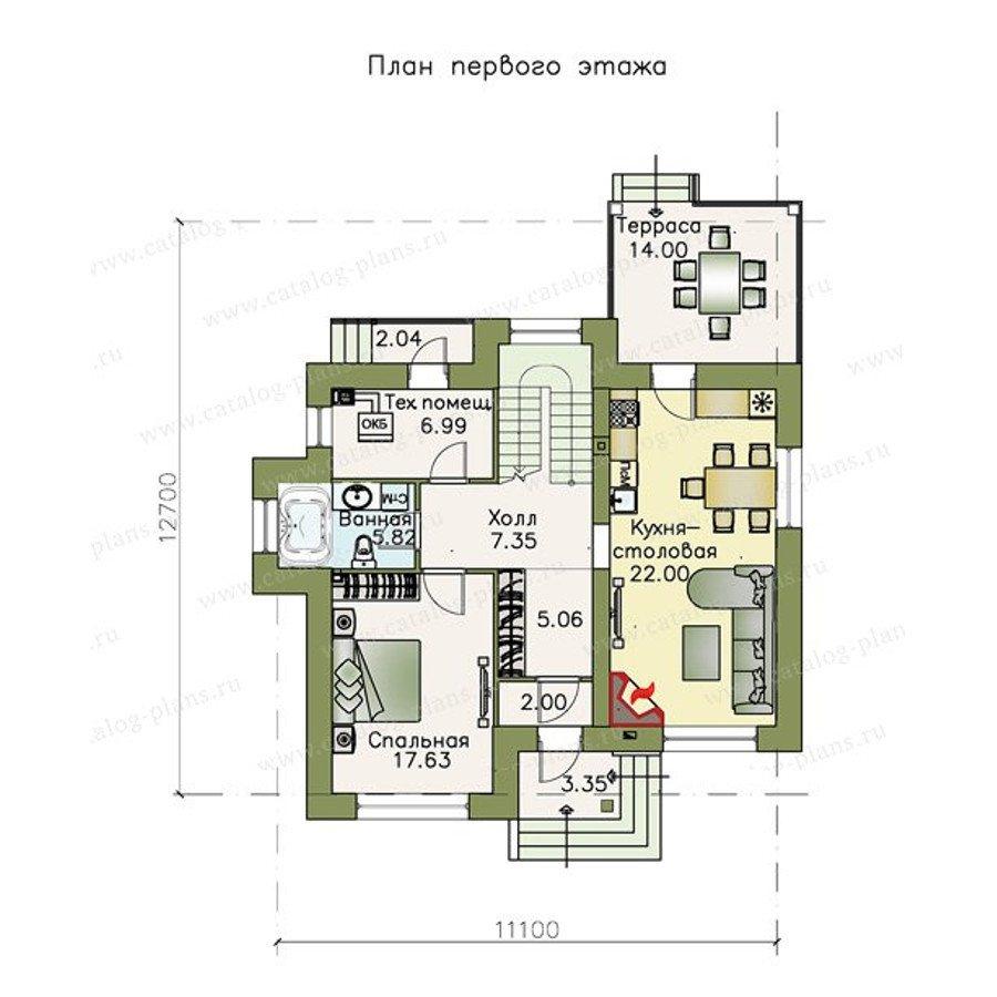 План 1-этажа проекта 47-05