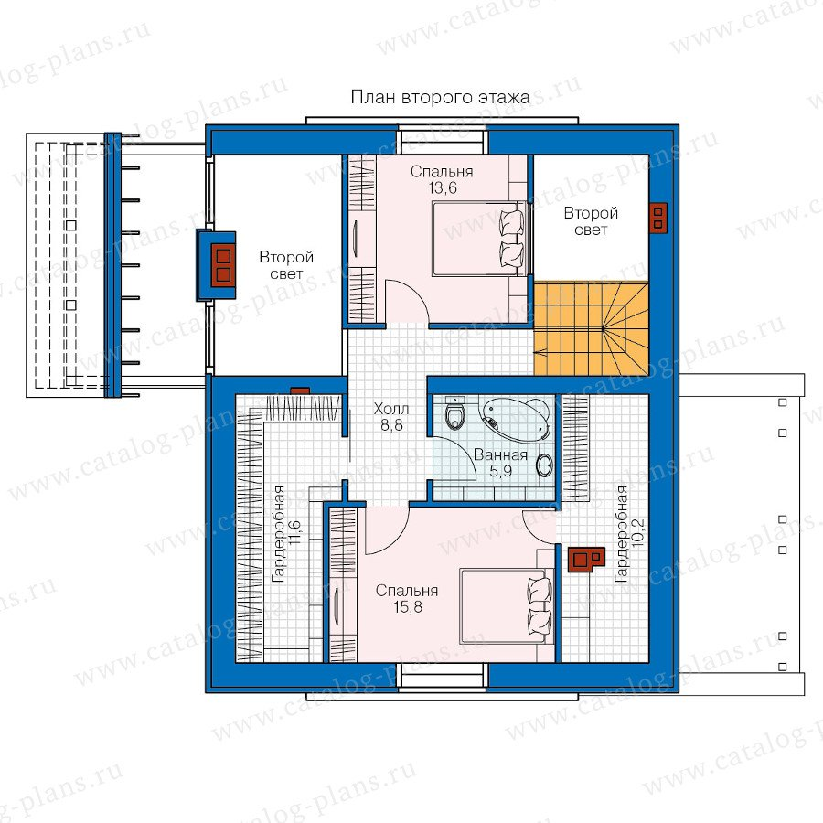 План 2-этажа проекта 47-33