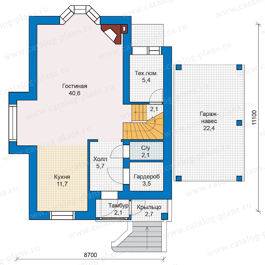 План 1-этажа проекта 47-10